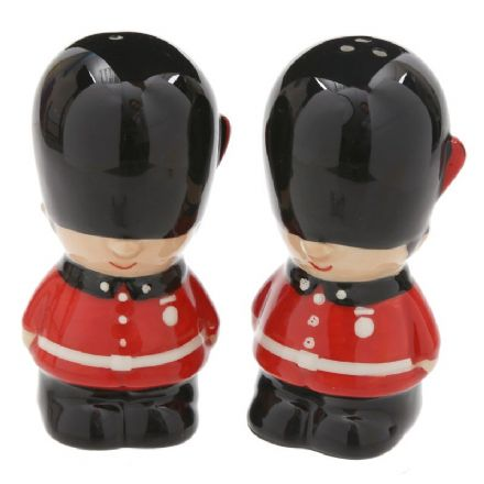 Guardsmen Salt & Pepper Shaker English Cruet Set
